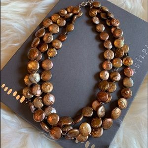 Silpada coin pearl necklace N1717